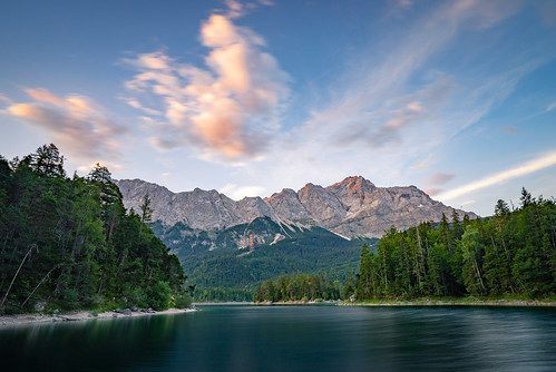 Long Exposure Sunrise at lake Eibsee from Toni Hoffmann