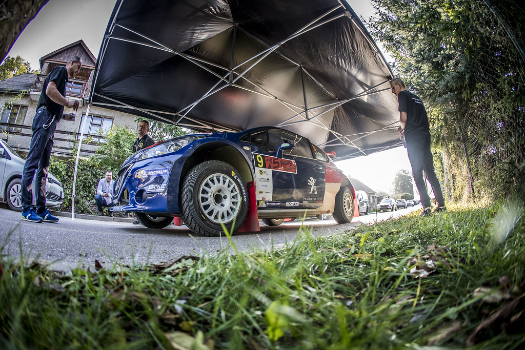 PELLIER Laurent (FRA), COMBE Geoffrey (FRA), PEUGEOT RALLY ACADEMY, Peugeot 208 T16, portrait during the 2018 European Rally Championship PZM Rally Poland at Mikolajki from September  21 to 23 - Photo Gregory Lenormand / DPPI