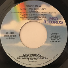 NEW EDITION:ONCE IN A LIFETIME GROOVE(LABEL SIDE-B)