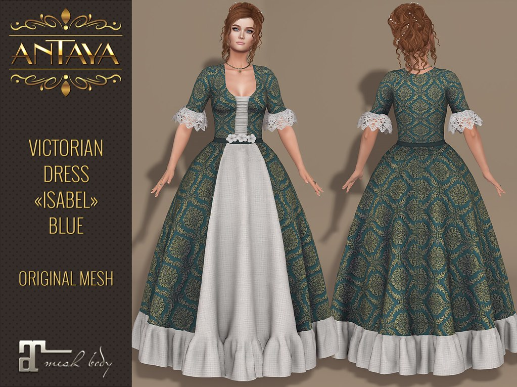 ":: ANTAYA :: Victorian dress ""Isabel"" blue - TeleportHub.com Live!"