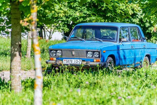 The blue Lada