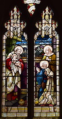 Simeon with the Christ child, Blessed Virgin and Anna at the Presentation in the Temple (Heaton, Butler & Bayne, 1938)