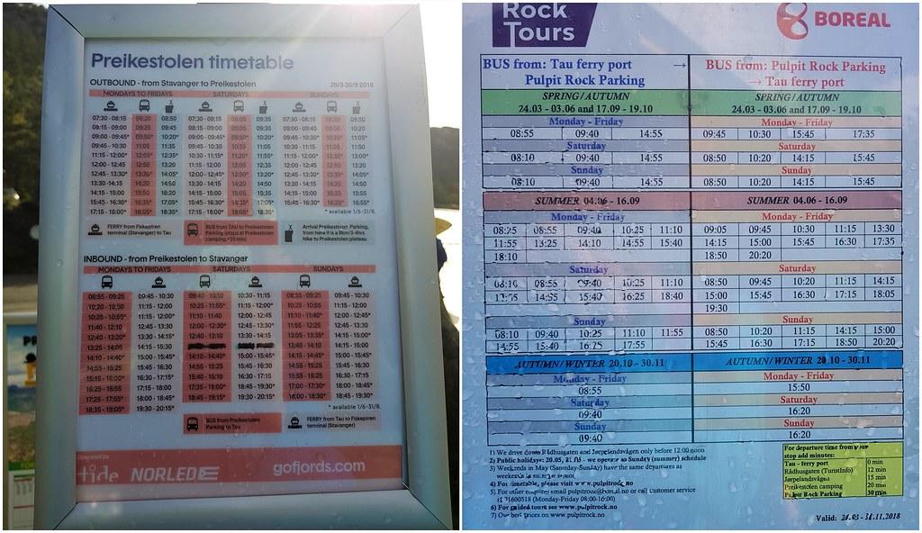 Rozkład autobusów Tide i Boreal