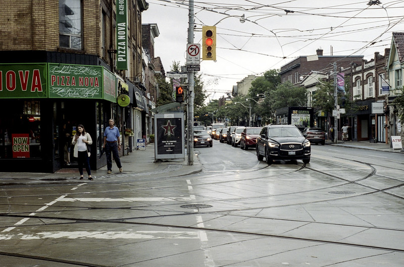 Broadview and Queen in the Rain