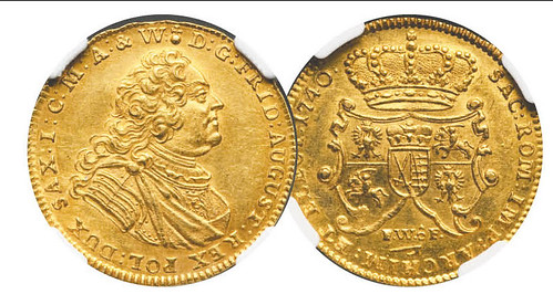 Saxony two ducat coin