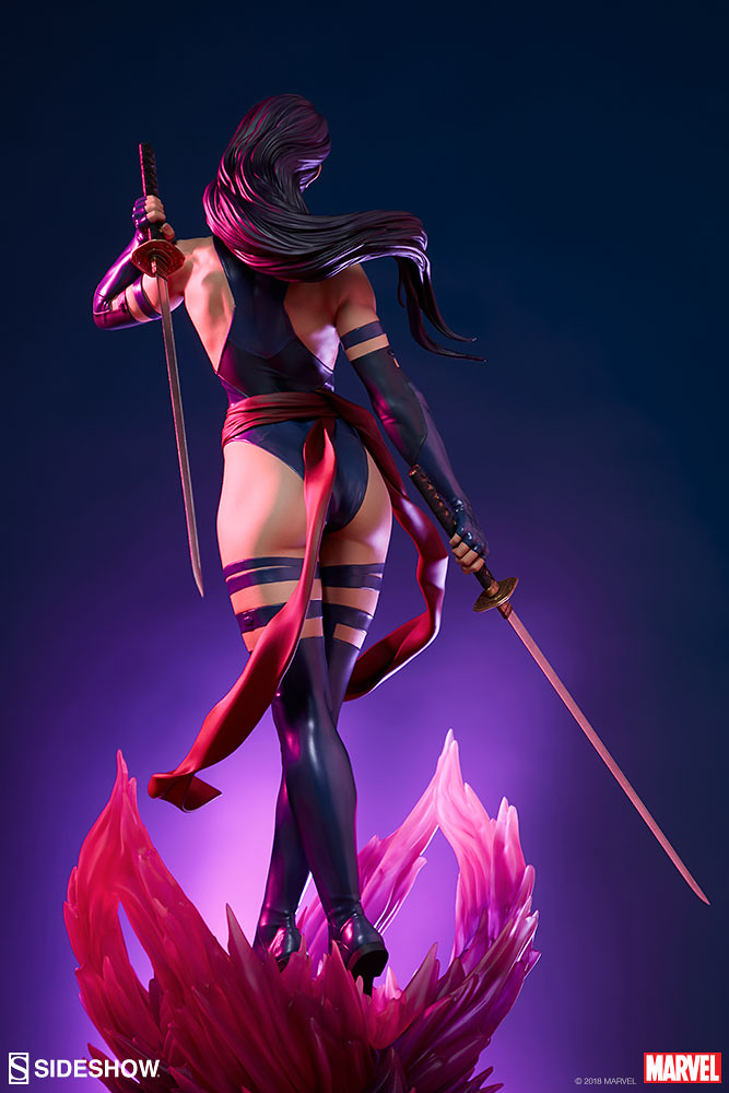 Sideshow Collectibles Premium Format Figure 系列 Marvel Comics【靈蝶】Psylocke 1/4 比例全身雕像作品