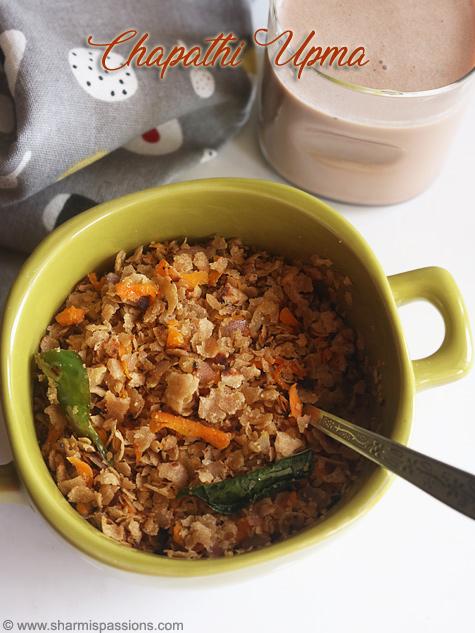 chapathi upma recipe