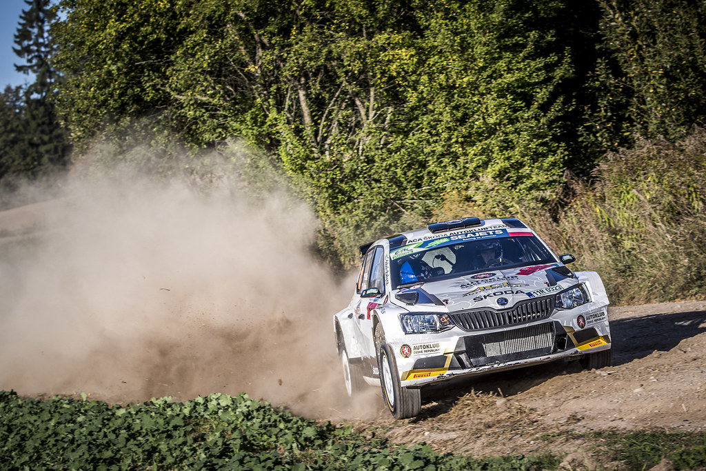 12 MARES Filip 5CZE), HLOUSEK Jan (CZE), ACCR CZECH RALLY TEAM, Skoda Fabia R5, action during the 2018 European Rally Championship PZM Rally Poland at Mikolajki from September  21 to 23 - Photo Gregory Lenormand / DPPI