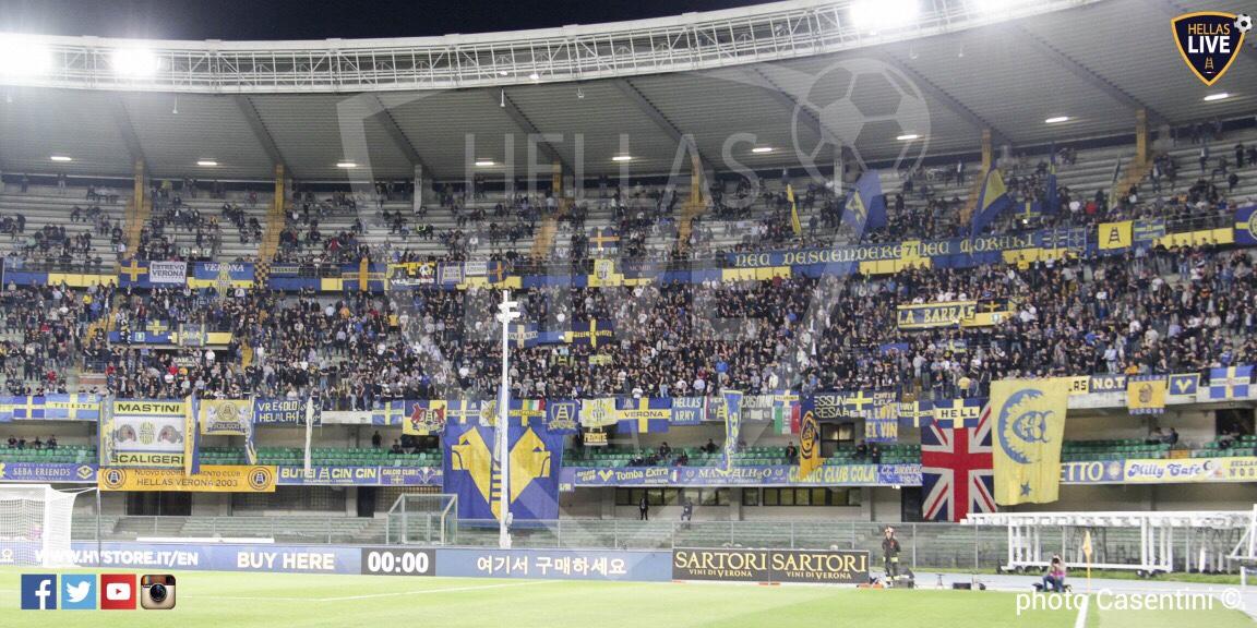 Hellas Verona-Padova, apertura cancelli Bentegodi ore 16 ...
