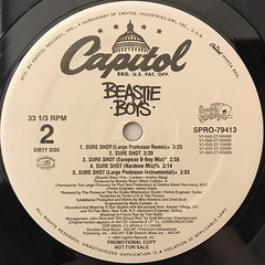 BEASTIE BOYS:SURE SHOT(LABEL SIDE-B)