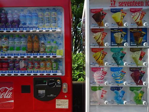 富士見ガーデンビーチの自販機