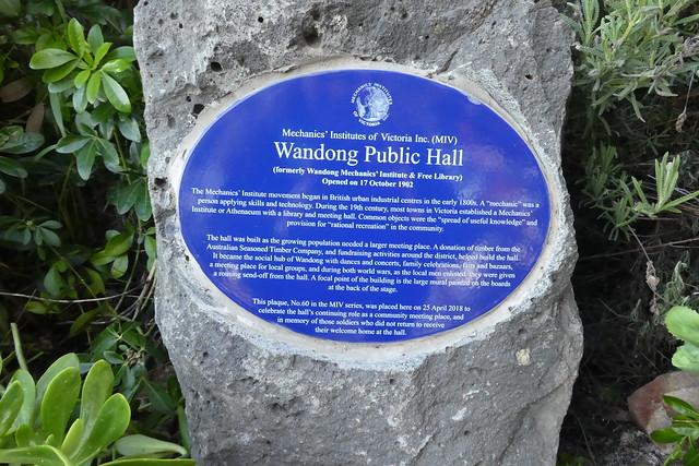 Photo of Wandong Public Hall blue plaque