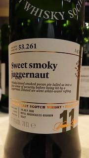 SMWS 53.261 - Sweet smoky juggernaut