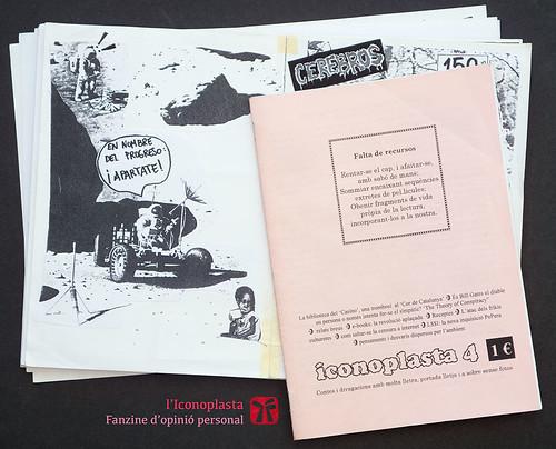 Iconoplasta n. 4 i revers de l'original del n. 1. Fanzines de Ferran Cerdans Serra