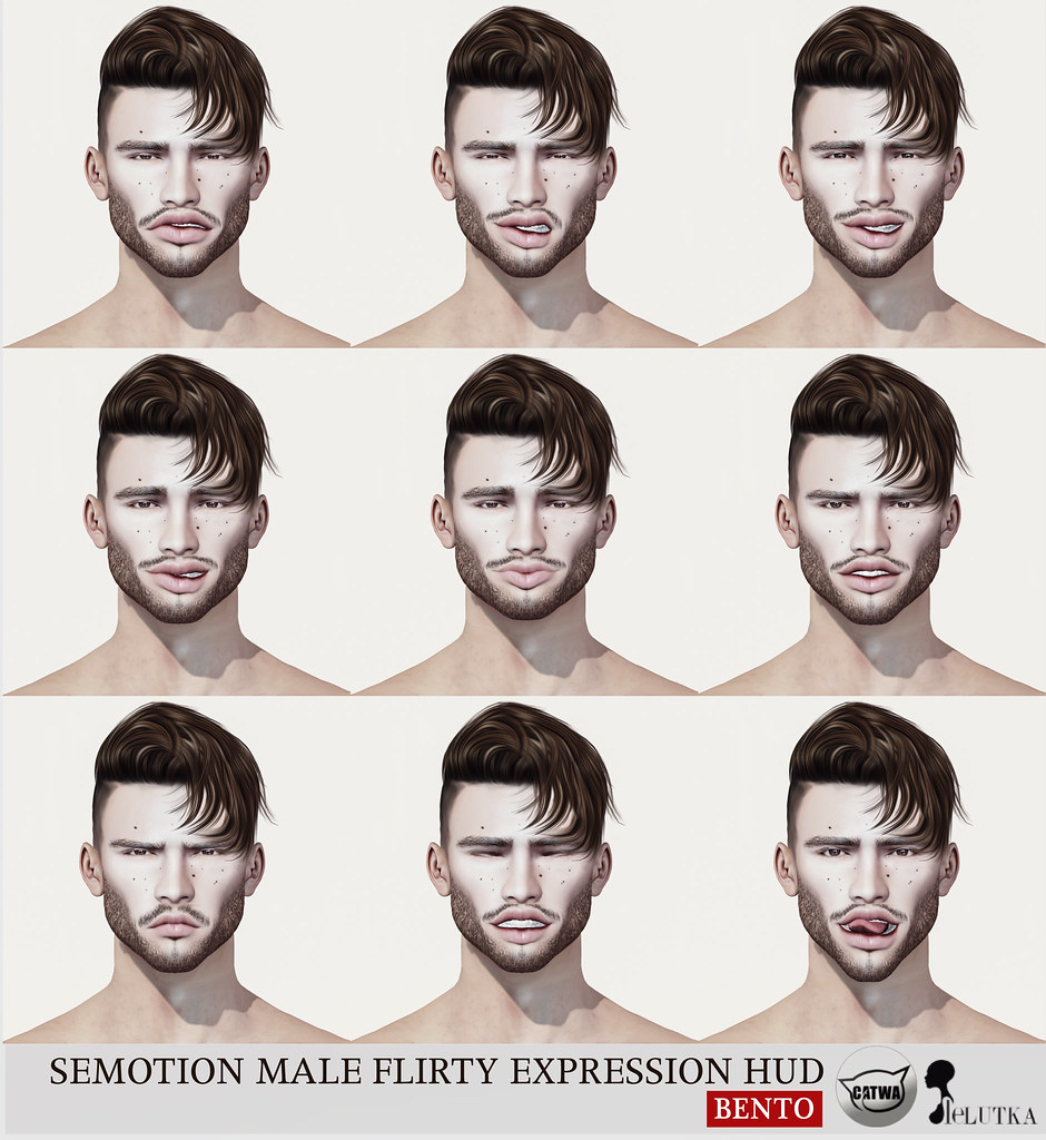 SEmotion Male Bento Flirty Expression HUD