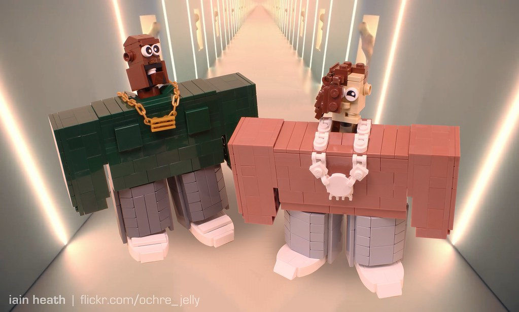 Kanye West and Lil Pump in LEGO