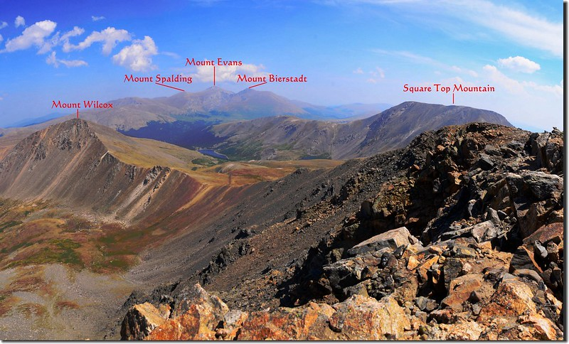 A panorama East~South from Argentine Peak 2_副本