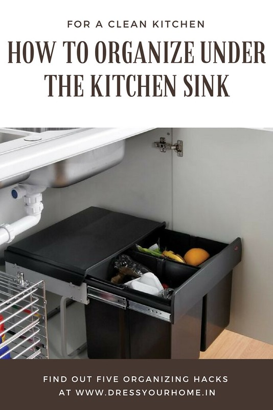 five ways to organize under the kitchen sink area