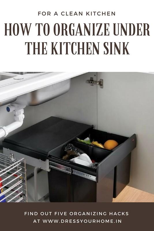 five ways to organize under the kitchen sink area