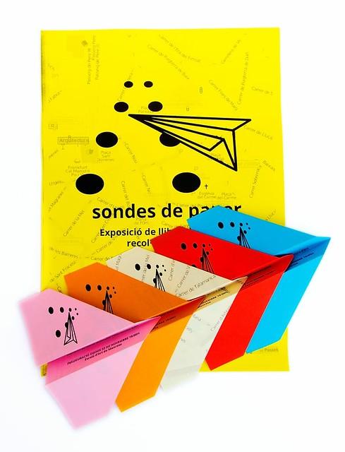 Avions de paper per a l'exposició Sondes de Paper.