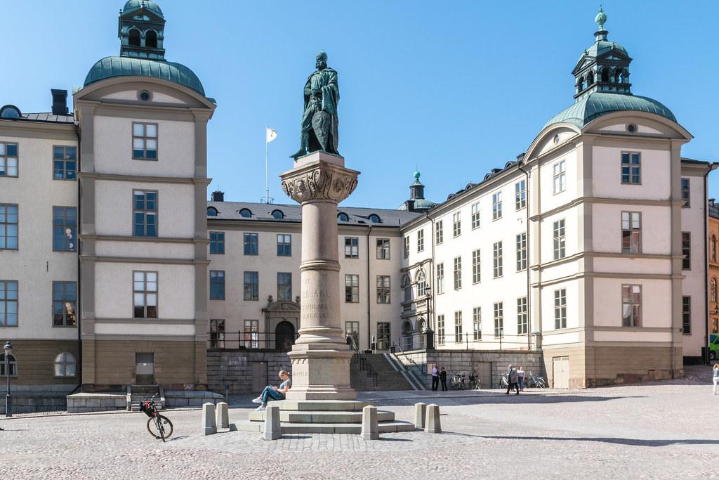 spring Stockholm Riddarholmen. Birger Jarl och Wrangelska huset