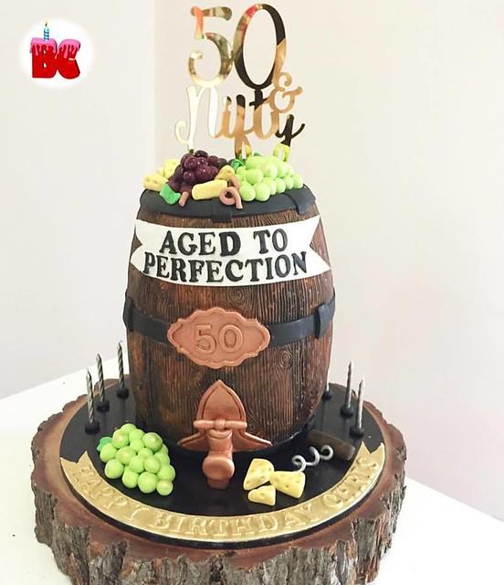 Barrel Birthday Cake by Brisbane Cakes