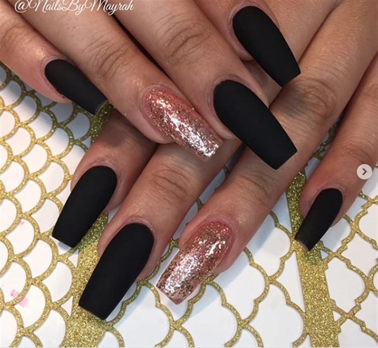 25 Fabulous Black Matte Nail Art Designs Trendy Ideas Fashonails
