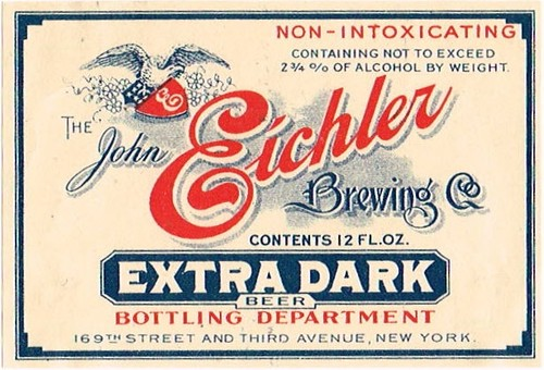 Eichlers-Extra-Dark-Beer-Labels-John-Eichler-Brewing-Co--Post-Prohibtion