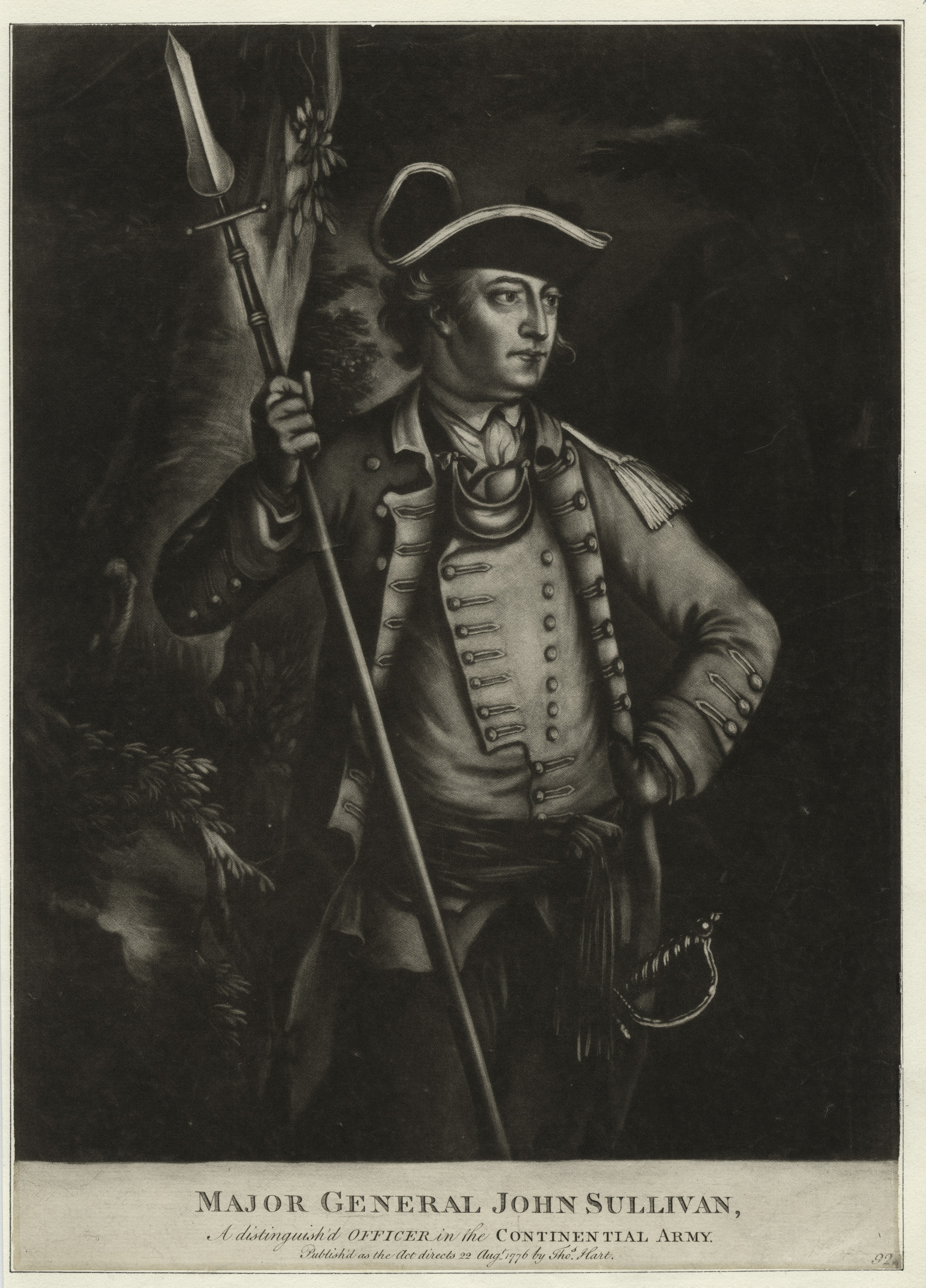 Major General John Sullivan, a distinguished officer in the Continental Army. Printmakers include Asher B. Durand, Henry Bryan Hall, Albert Rosenthal and Max Rosenthal. Draughtsmen include David McNeely Stauffer (NYPL NYPG94-F149-419970)