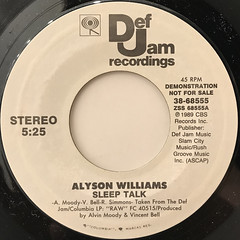 ALYSON WILLIAMS:SLEEP TALK(LABEL SIDE-A)