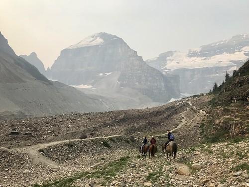 Horseback ride, Plain of Six Glaciers