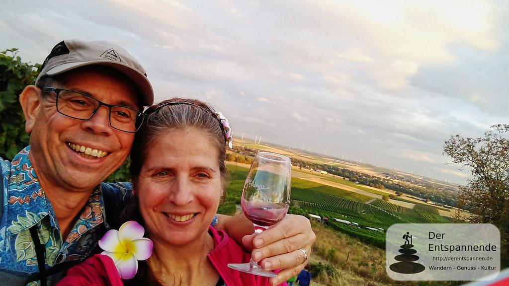 FunPic bei der Weinprobe in den Weinbergen
