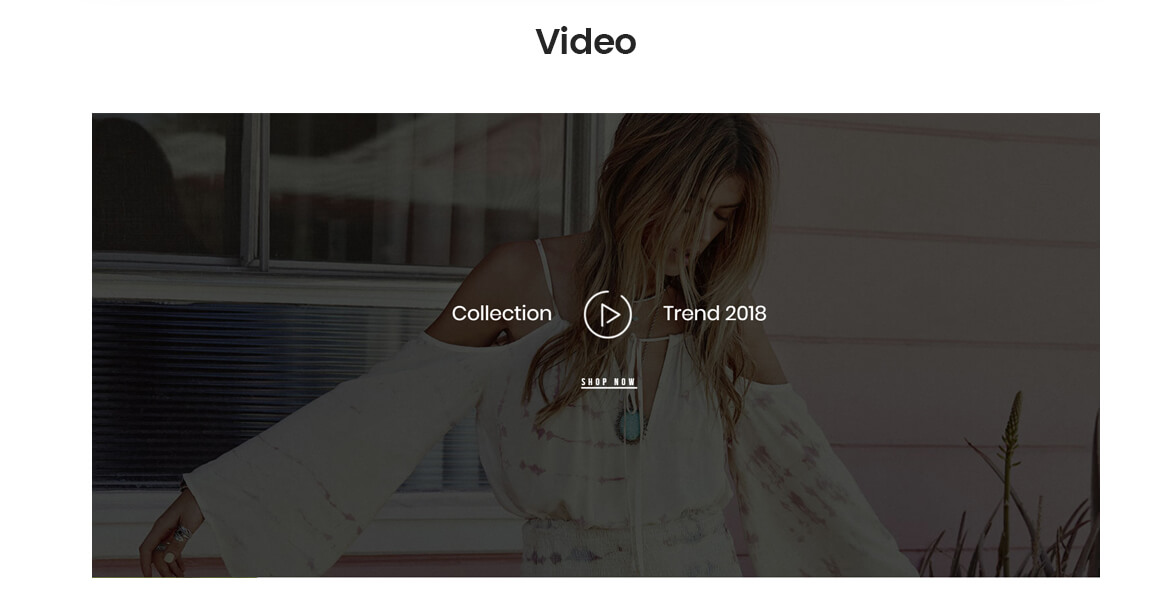 add video on slideshow -best fashion store