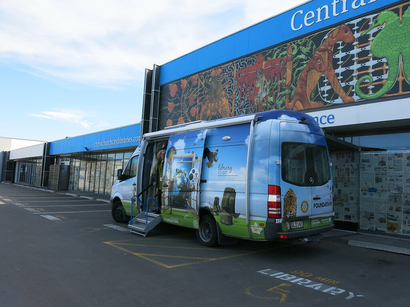 Mobile Library at old Central Library Peterborough site