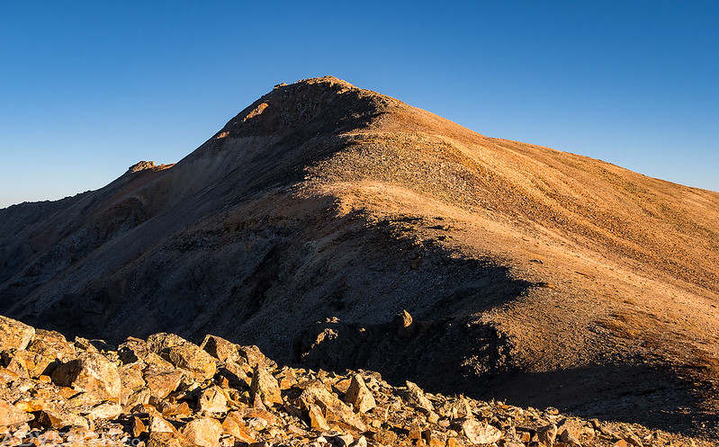 Looking Back at Telluride Peak