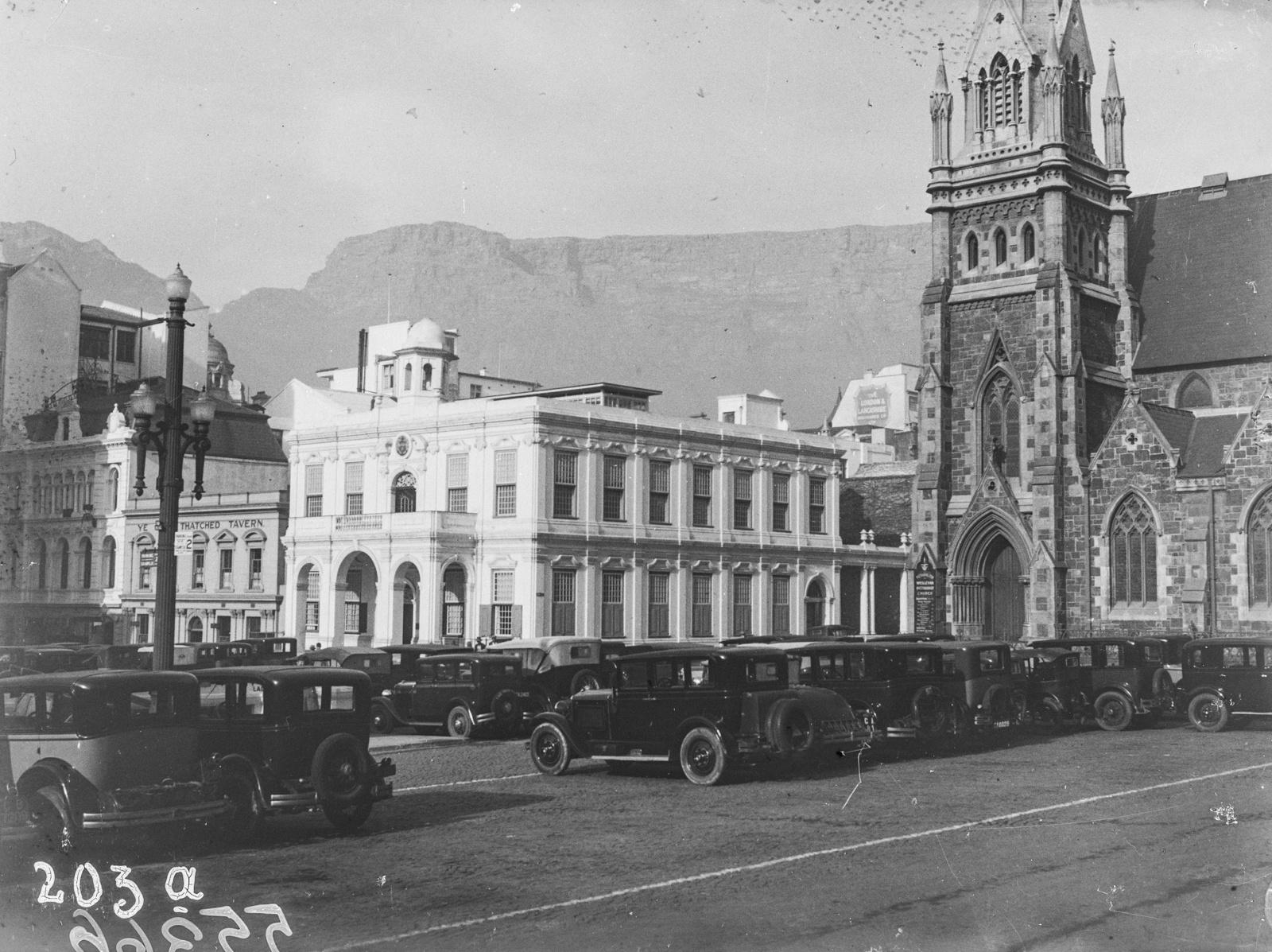 Южно-Африканский Союз. Кейптаун. Рыночная площадь и методистская церковь