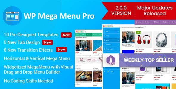 WP Mega Menu Pro v2.1.0 - Responsive Mega Menu Plugin for WordPress