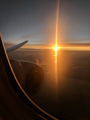 Transatlantic sunset