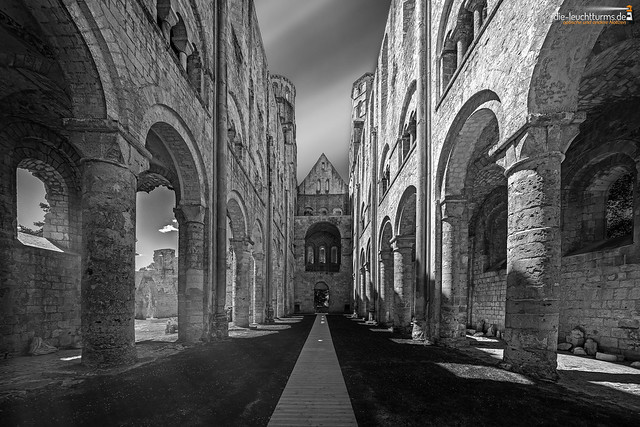 Ruins of abbey church Notre-Dame