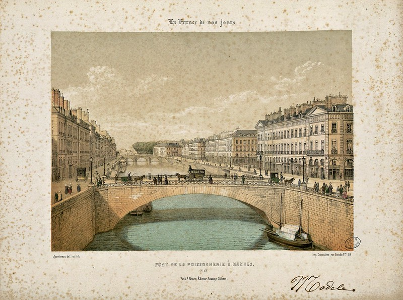 Léon Auguste Asselineau - Pont de la Poissonnerie à Nantes