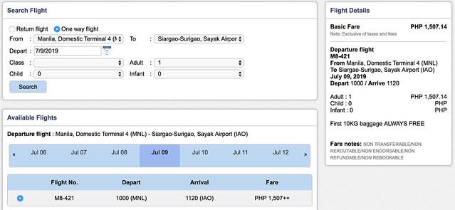 Manila to Siargao SkyJet Airlines September Savings Spree