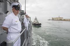 USS Scout (MCM 8) arrives in Los Angeles for Los Angeles Fleet Week.