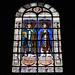 Paris : vitrail de l'église Saint-Augustin