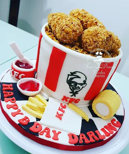 KFC Cake Bucket by Faiza's Dream Cakes
