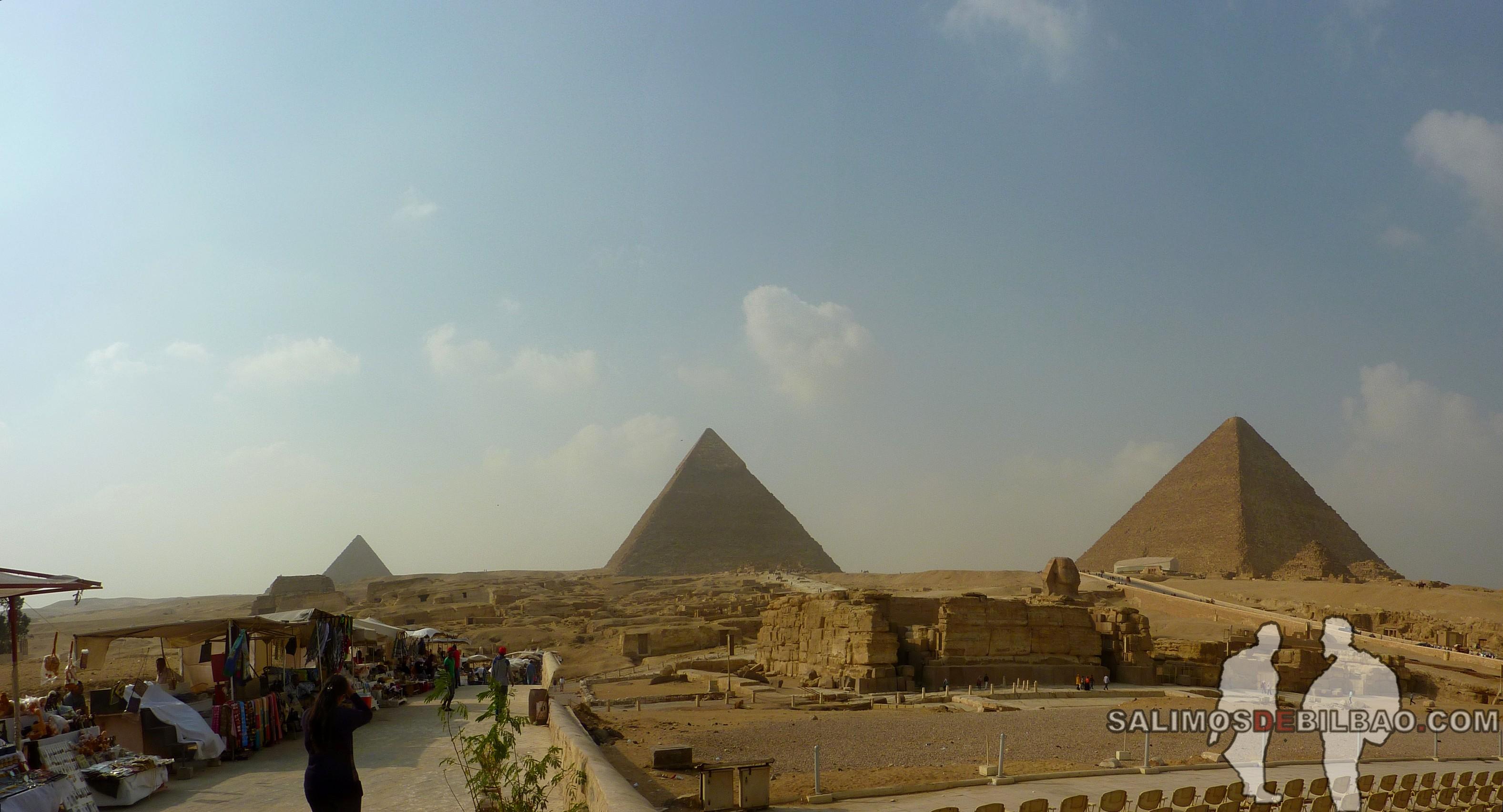 0167. Pano, Pirámides de Giza y Esfinge