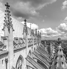 Above the Washington National Cathedral