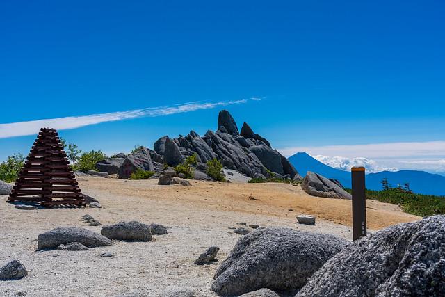 薬師岳より観る富士山