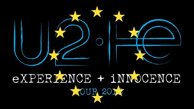 U2 E+I tour logo with EU stars