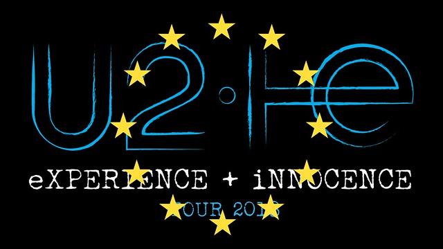 U2 E+I tour logo with EU stars