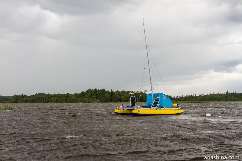 Парусный катамаран, Ладожское озеро, залив Лехмалахти